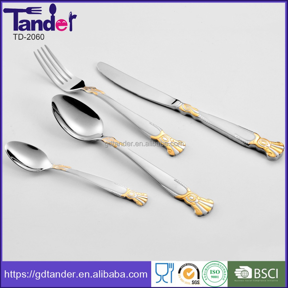 86pcs stainless steel material royal cutlery set