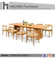 With PU chair wooden center table & wood table base & wood table tops for sale