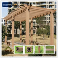 eco-friendly wpc balcony pergola designed as your requirements outdoor pergola