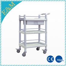 CE ISO mobile cleaning ABS plastic hospital medical trolley