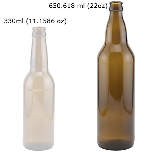330ml 500ml 1000ml Amber Beer Glass Bottle With Top Cap