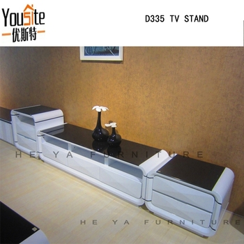 High Gloss Tv Stand White Wooden Led Living Room Furniture