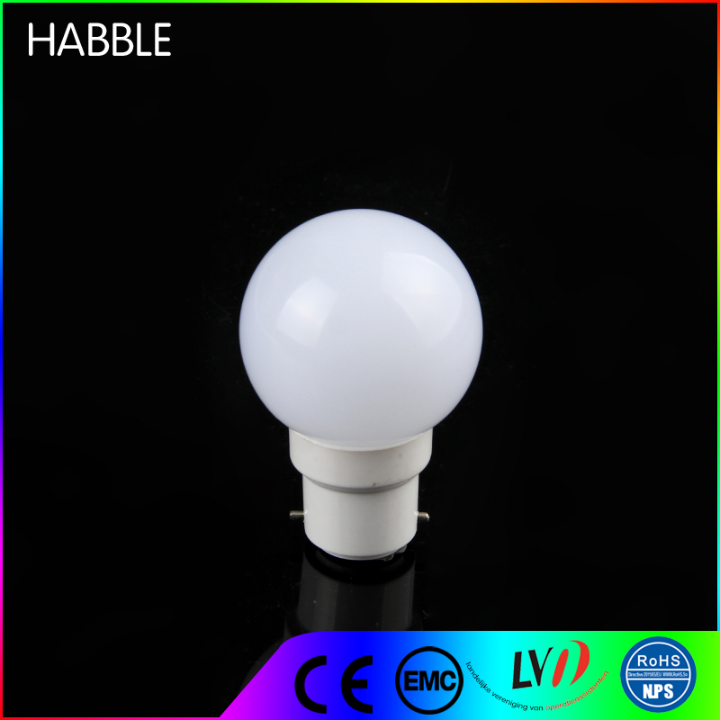 B22 E27 led magic ball light small changing color 0.5w led bulb