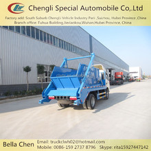 Small size garbage truck, DONGFENG skip bin garbage collection vehicle