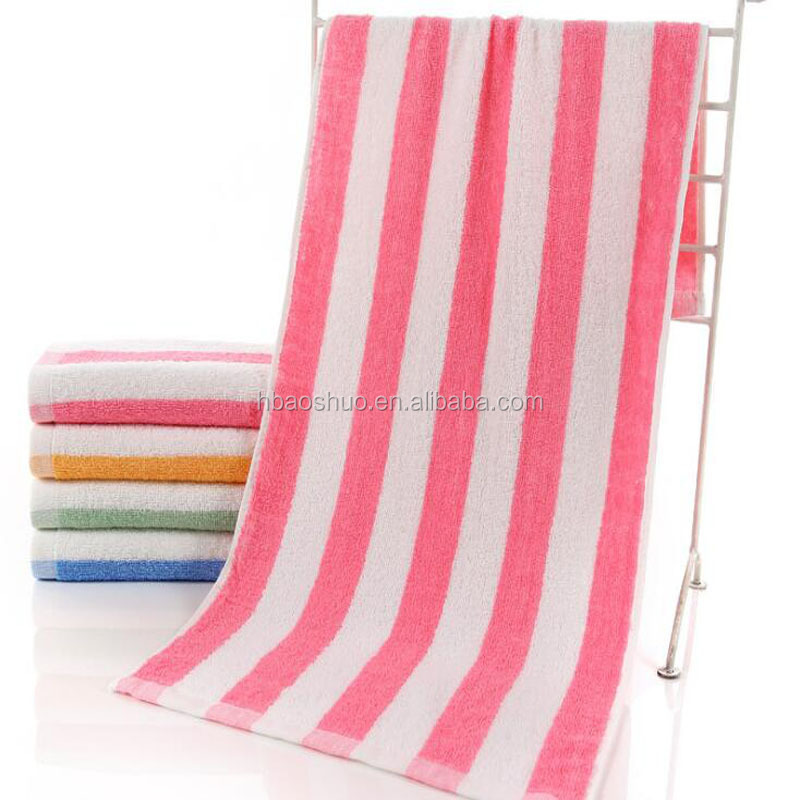 combed bath towel for personal stripe design sports towel