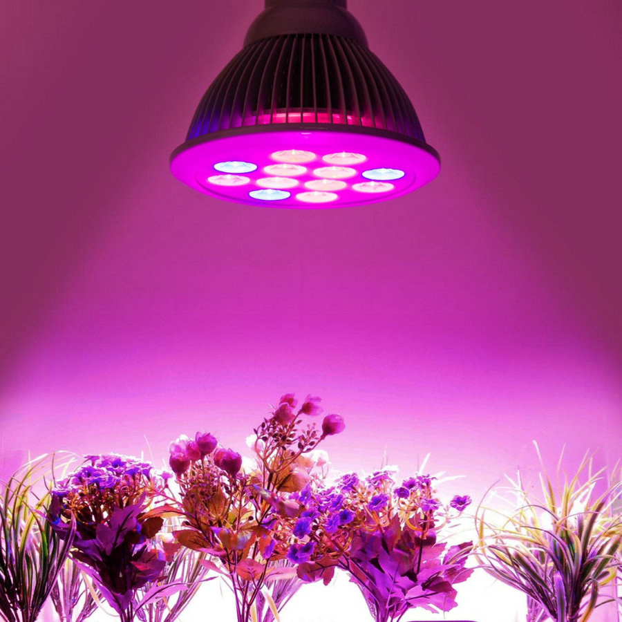 Agricultural Greenhouse hydroponic grow systems garden flowers grow led 1w 660nm E27 2016 led grow light 12w