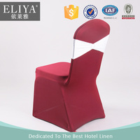 ELIYA Wholesale Luxury Red Spandex Polyester Christmas Chair Cover with sash