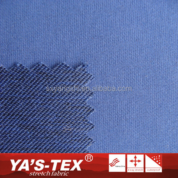China Suppliers Blue Color Polyester Spandex Jacquard Fabric For Outdoor Sportswear