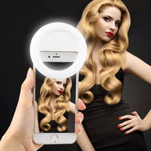New Arrival Rechargeable LED Selfie Flash Light Mobile Selfie Ring Light for Wholesale