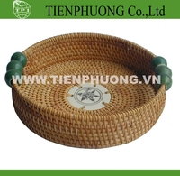 Rattan Tray/rattan bascket/wicker basket with handle