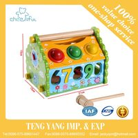Multifunctional disassembly knocked the ball House, children's wooden educational toy