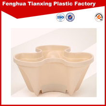 high quality low price stacked flower pot planter with beige