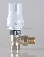 Chrome/Nickel Plated two-way angle thermostatic radiator valve