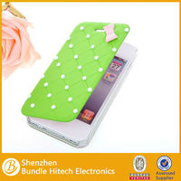 simple style pu leather for iphone 5 , leather case for iphone5,5s,flip bling case