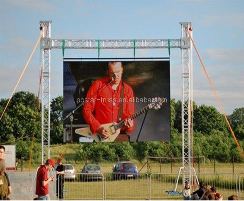 Big Discount 8x6m heavey duty LED screen aluminum truss system ground support truss
