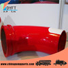 China distributor for putzmeister schwing truck dn125 45 degree elbow