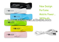 2014 New Design elegant perfume portable power bank for France Italy Spain Germany
