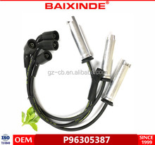 BAIXINDE ignition cable OEM P96305387 silic-one material spark pl-ug wire set for dae woo