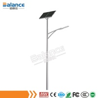 Waterproof design solar led street light with high photoelectric conversion rate mono / poly solar panel