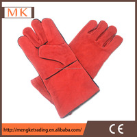 long sleeve welding leather gloves