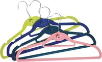 Factory Price Velvet Useful Kids Hangers, Colored Clothes Hangers