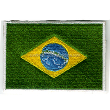 Brazil flag embroidery patch