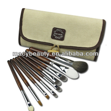 9pcs nylon make up cosmetics brush