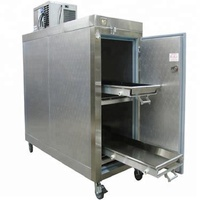 Hot Sale three doors side open 304 or 316 stainless steel cadaver freezer and mortuary refrigerator price