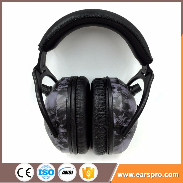 CE EN352-1, EN352-8 personal protective equipment electronic AM/FM ear muffs with radio