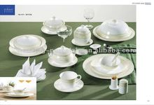 Hot sale high quality customized design decal indian dinner sets with bone china
