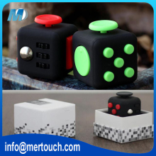 2017 Hot Selling Fidget Cube 3D Magic Cube Stress Release Toy Desk Fidget Toy Gift Box Package Wholesale In Stock