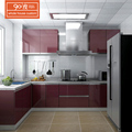 Custom made new model uv high glossy kitchen cabinet designs