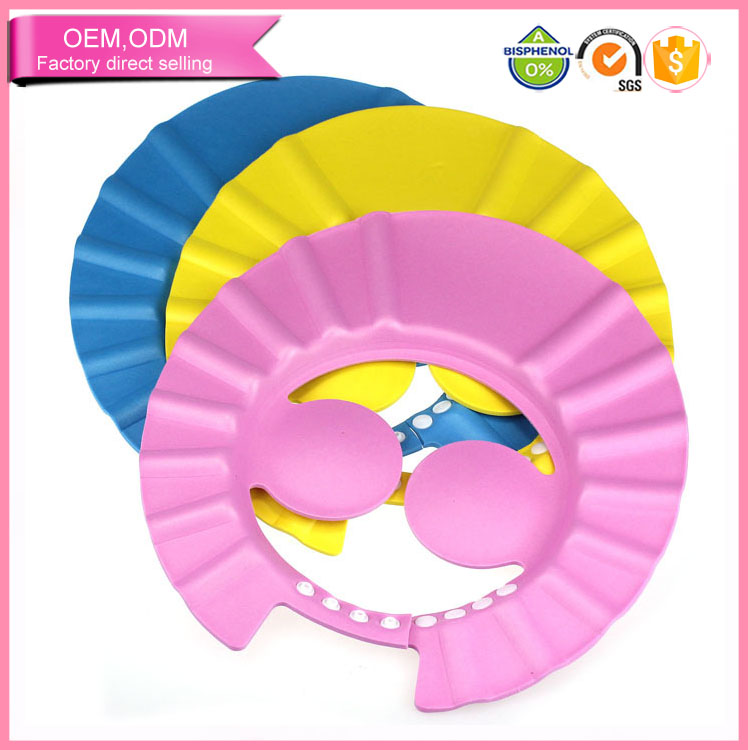 Hotsale baby products non toxic waterproof soft baby shampoo cap manufacturer wholesale