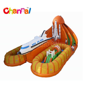Air Space Shuttle inflatable playground inflatable fun city inflatable obstacle course