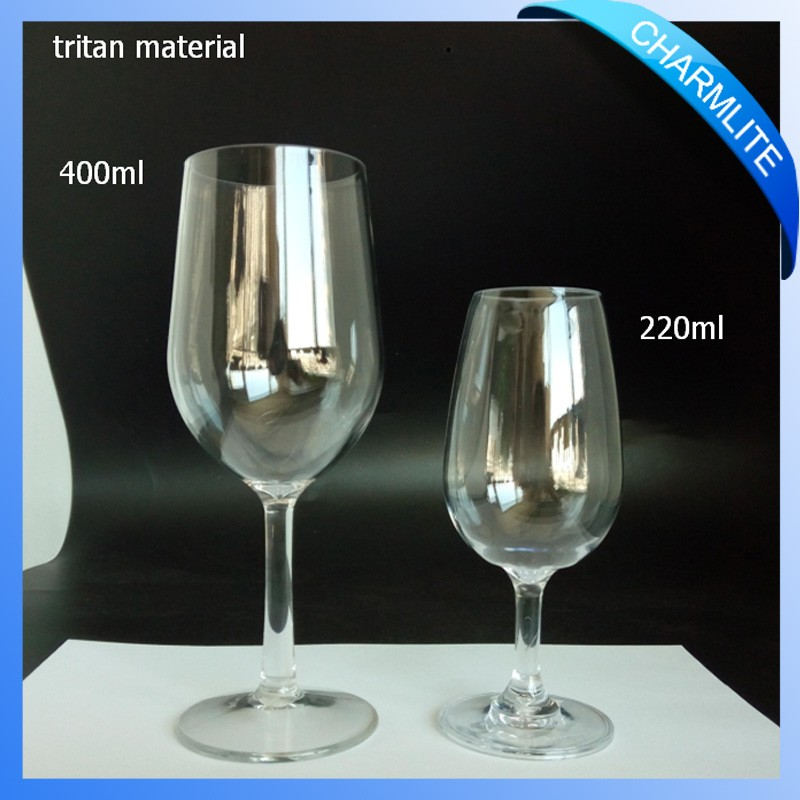 Plastic Unbreakable Wine Glass, Red Wine Glass with Stem