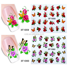 wholesale 200 design Flowers French Tips Nail Art Stickers Decals Water Transfer Tattoos Decorations Wraps XF1001-1200