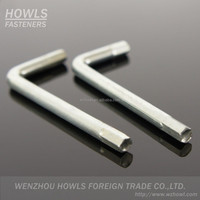 stock available flat end hex key L-type allen wrench and Z-type allen wrench