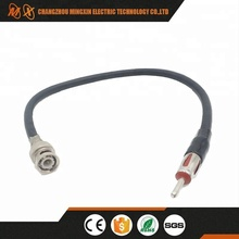 BNC Male to AM/FM male Motorola plug - Car Radio Antenna Connector Adapter RG58 Coaxial Extension Cable 12""