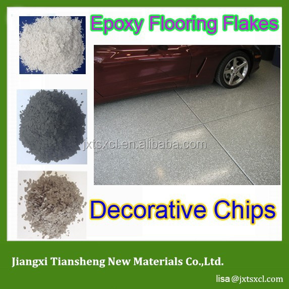 Decorative Epoxy Colour Flakes For Industrial Commercial Epoxy Seamless Resin Based Flooring