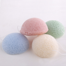 massaging fine konjac sponge for dehydrated/fatigued skin gentle exfoliating sponge konjac for deep cleansing