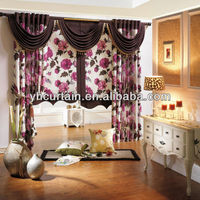 China curtain supplier double swag shower curtain with valance