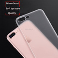 DFIFAN Mobile phone case semitransparent for iphone 7 plus 8 plus translucent ultra thin tpu cover for apple iphone 8 cases