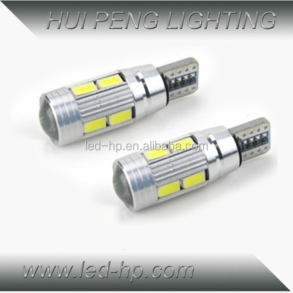 Hot Sale 12V Canbus 10Led 5630 T10 Led Auto Lamp