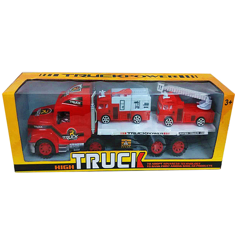 Tractor Trailer Toy Trucks Friction Powered Trailer Toy for Kids
