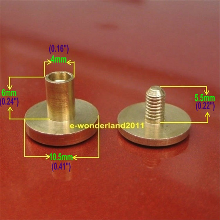 China shopping brass Inter Screws post flier screw m6, male female screws