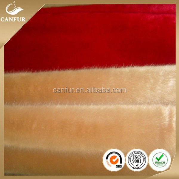 2014 beautiful Plush 100% acrylic fibers faux /fade /imitation fox fur fabric