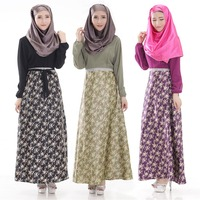 new design printed muslim abaya long dress Malaysia Indonesia baju Turkey kaftan abaya