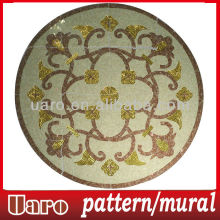 Middle east style gold embellish cutting mosaic table pattern
