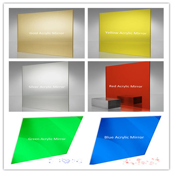 Colorful super thin mirror sheet, decorative double sided mirror acrylic sheets
