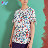 /product-detail/women-t-shirt-maker-wholesale-china-with-paint-splash-print-round-neck-and-button-fastening-to-the-back-60681098219.html